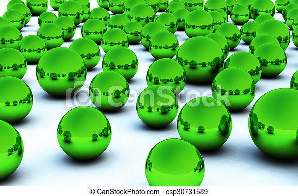 3D green christmas ball - csp30731589