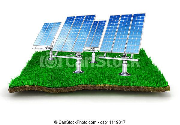 3d green energy concept - csp11119817