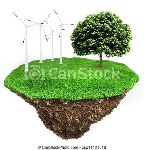 3d green energy concept - csp11121518