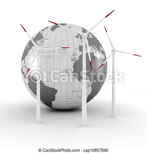 3d green energy concept - csp10857840