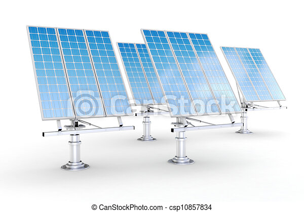 3d green energy concept - csp10857834