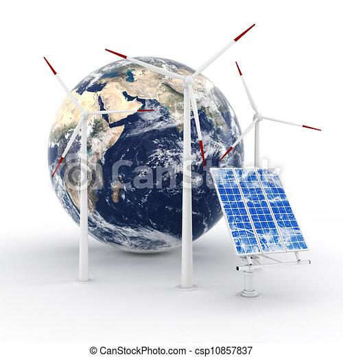 3d green energy concept - csp10857837