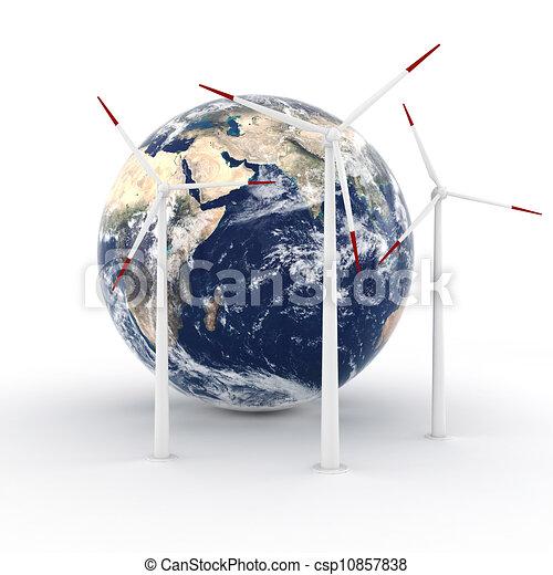 3d green energy concept - csp10857838