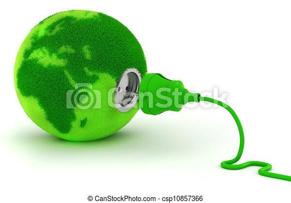 3d, green energy concept - csp10857366