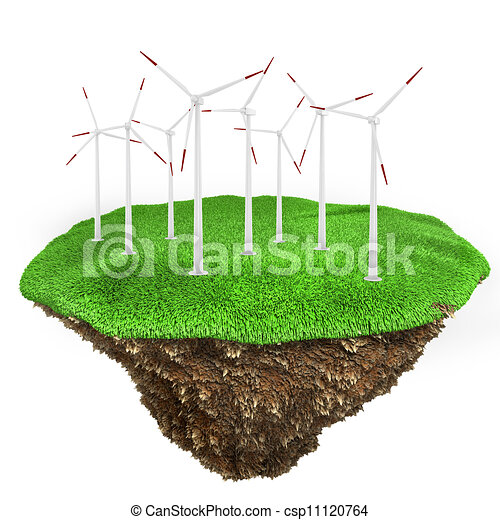 3d green energy concept - csp11120764