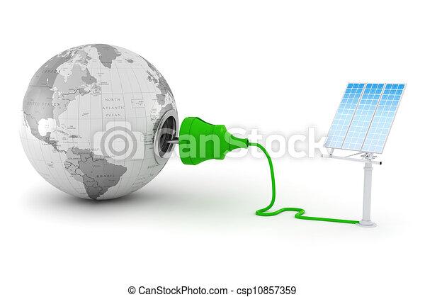 3d, green energy concept - csp10857359