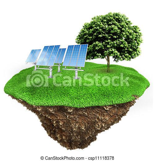 3d green energy concept - csp11118378