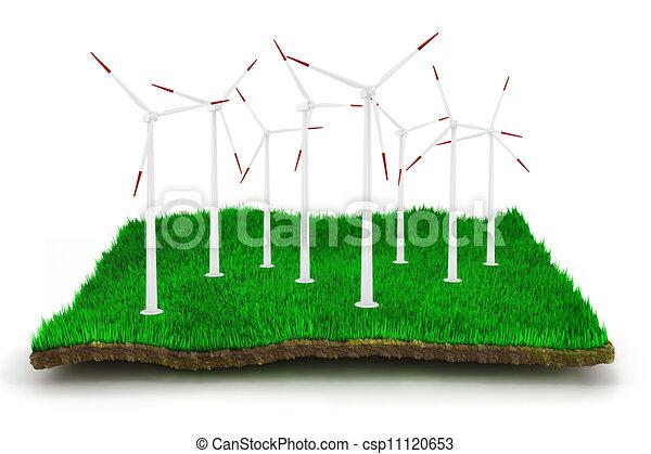 3d green energy concept - csp11120653