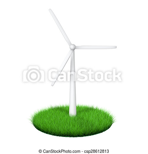 3d green energy wind turbine - csp28612813