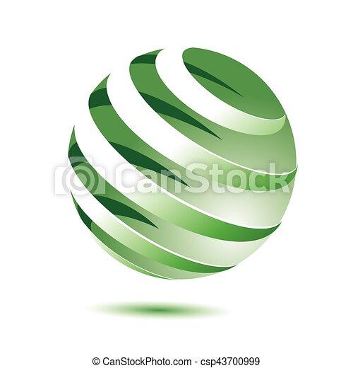 3d green globe - csp43700999