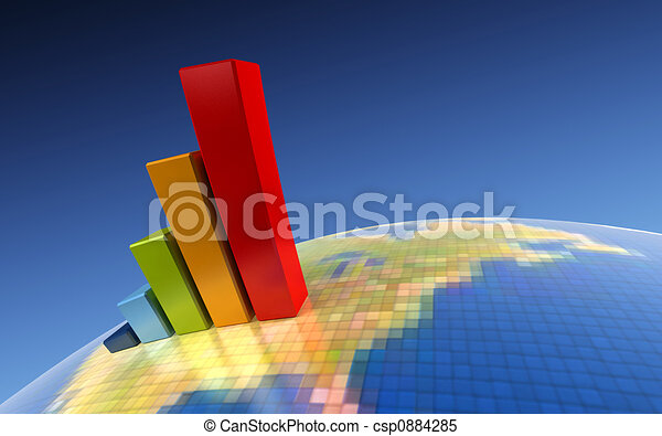 3d growth chart - csp0884285
