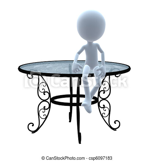 3d guy patio furniture 3d guy with patio furniture on a drawings rh canstockphoto co uk furniture clipart for floor plans furniture clipart for floor plans free