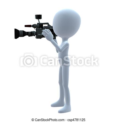 3D Guy Wtih A Camera - csp4781125