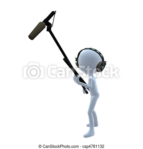 3D Guy Wtih A Microphone - csp4781132