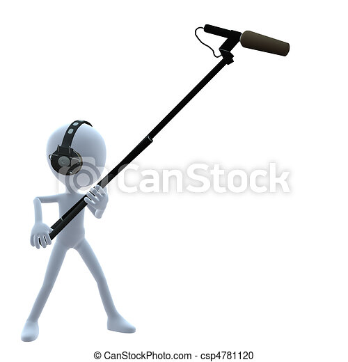 3D Guy Wtih A Microphone - csp4781120