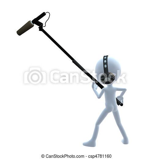 3D Guy Wtih A Microphone - csp4781160