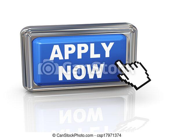 3d hand cursor button - apply now - csp17971374