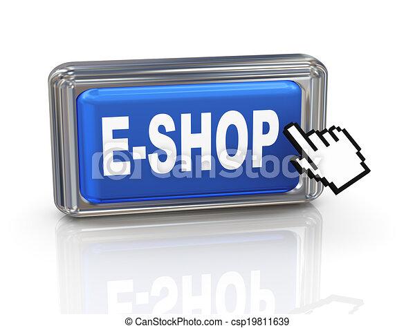 3d hand cursor button - eshop - csp19811639