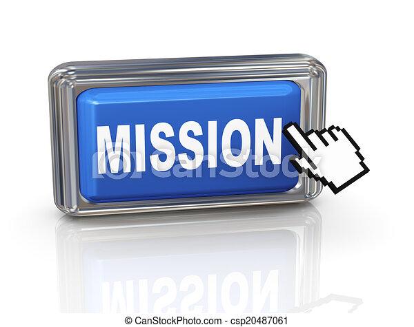 3d hand cursor button - mission - csp20487061