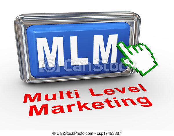 3d hand cursor mlm button - csp17493387