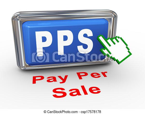 3d hand cursor pps button - csp17578178