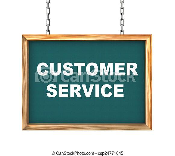 3d hanging banner - customer service - csp24771645