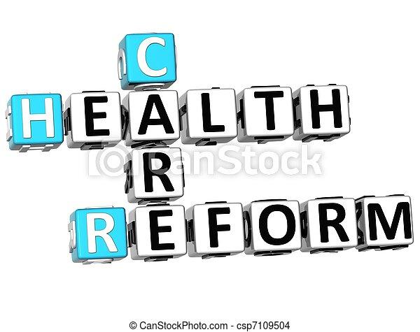 3D Health Care Reform Crossword - csp7109504