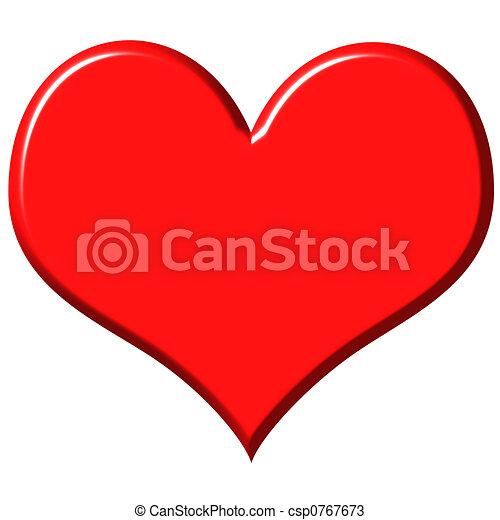 3d heart drawings