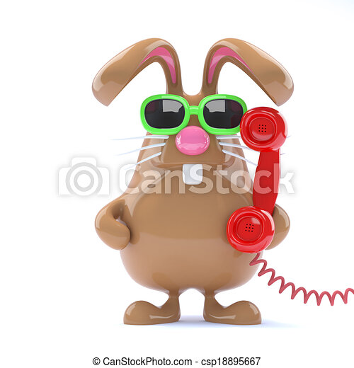 3d Helpdesk bunny - csp18895667