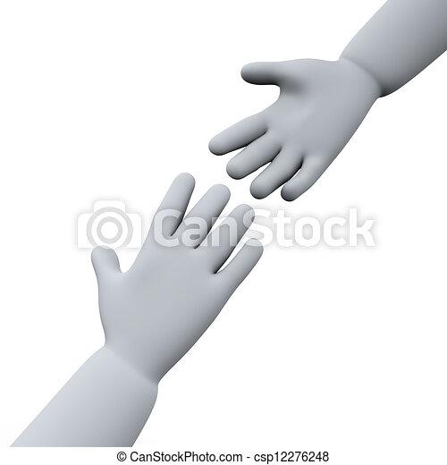 3d helping hands - csp12276248
