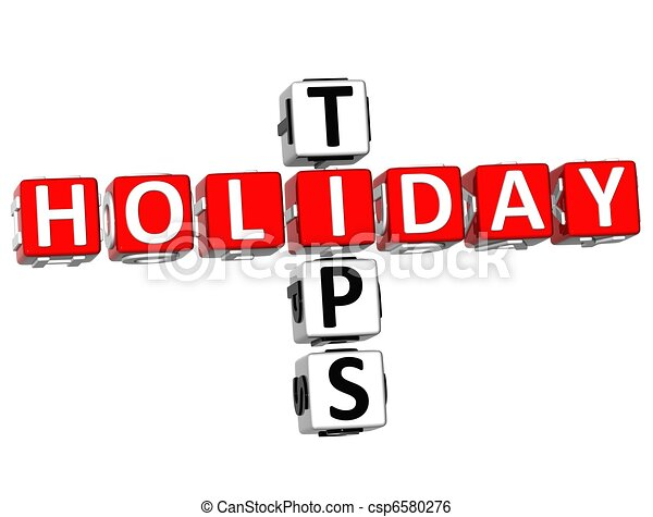 3D Holiday Tips Crossword - csp6580276