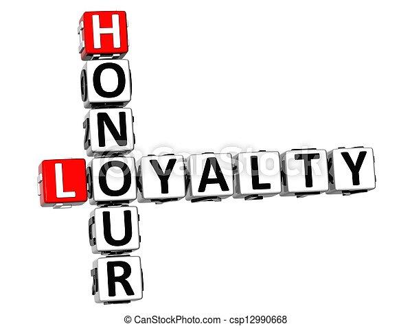 3D Honour Loyalty Crossword  - csp12990668