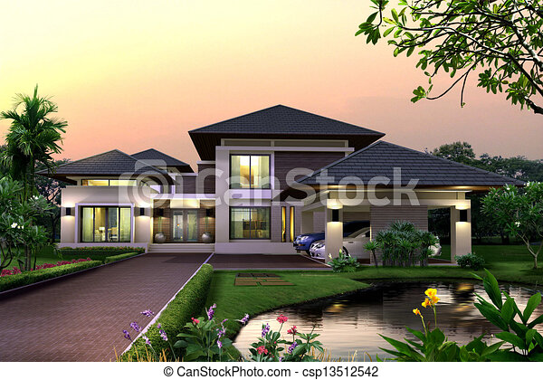 3d House Proposal Of Perspective Building 3d Rendering Drawing