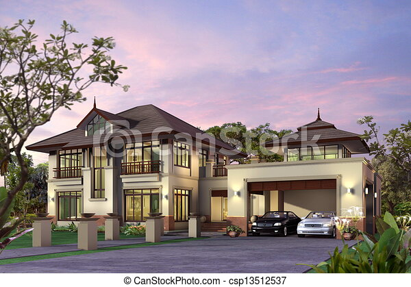 3d House Proposal Of Perspective Building 3d Rendering Drawings
