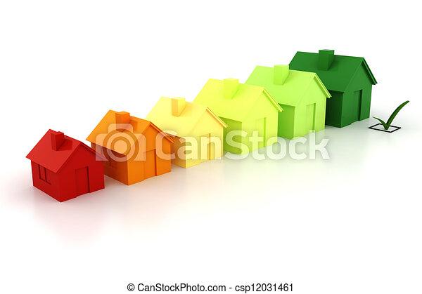 3d house green energy concept - csp12031461