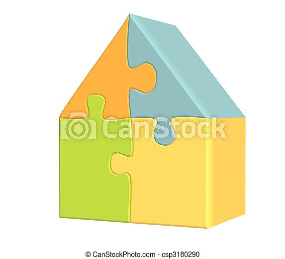 3d house  - csp3180290