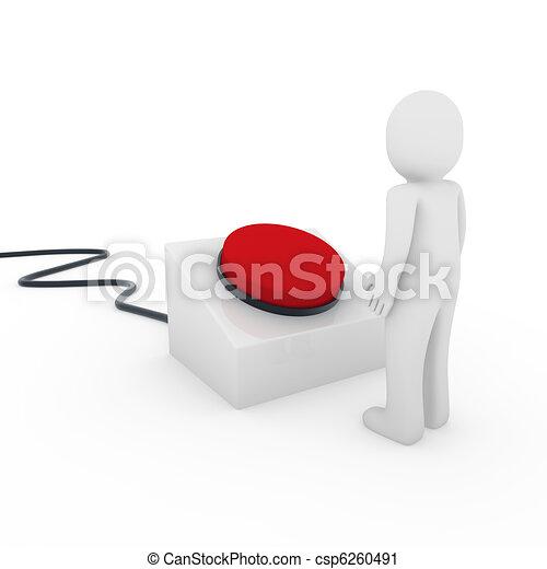 3d human button  - csp6260491