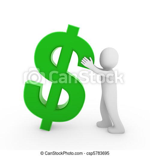 3d human dollar - csp5783695