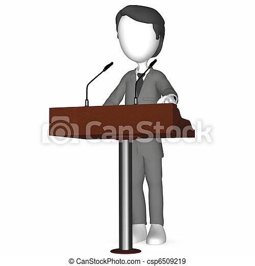 3D Human holding a Speech - csp6509219
