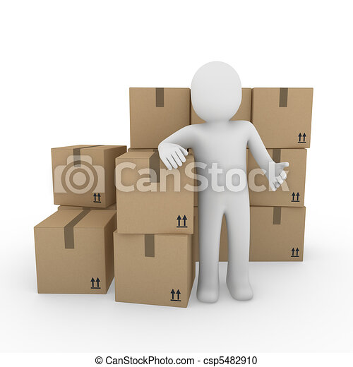 3d human shipping package - csp5482910