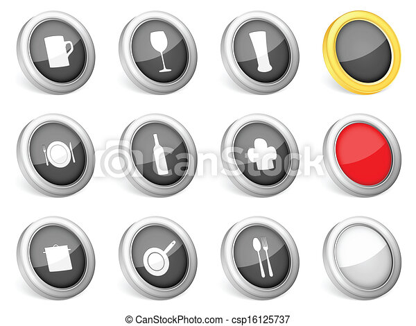 3d icons kitchenware - csp16125737