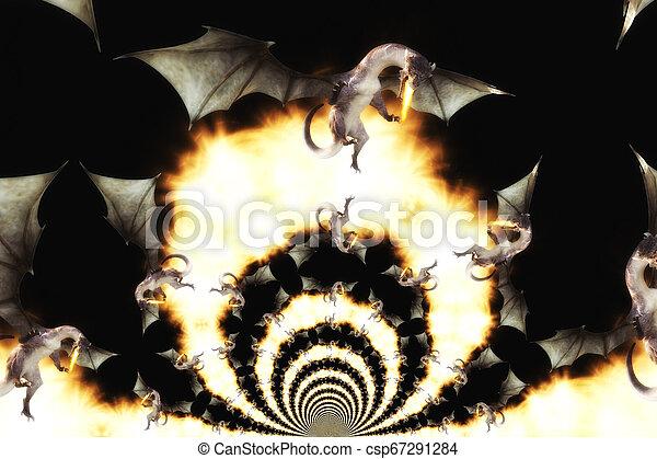 3d Illustration of a Fantasy Dragon - csp67291284