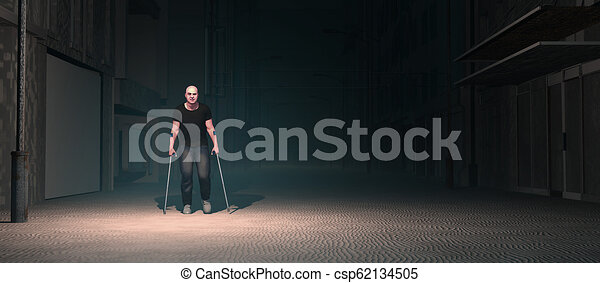 3d illustration of a man - csp62134505