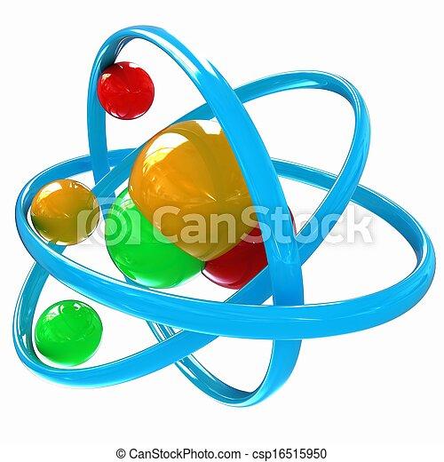 3d illustration of a water molecule - csp16515950