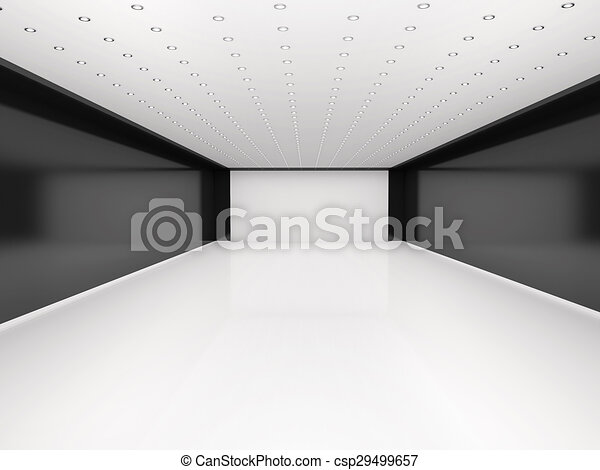 3d illustration of abstract empty room - csp29499657