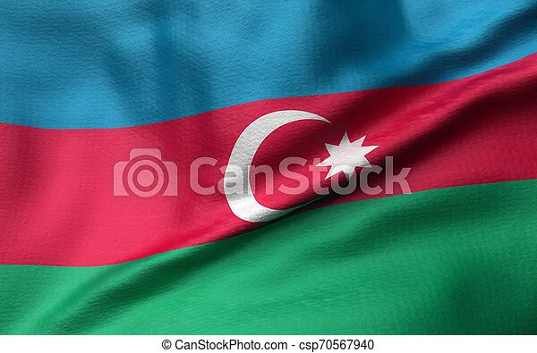 3D Illustration of Azerbaijan Flag - csp70567940