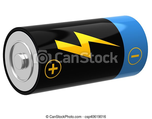 3D illustration of battery - csp40619016