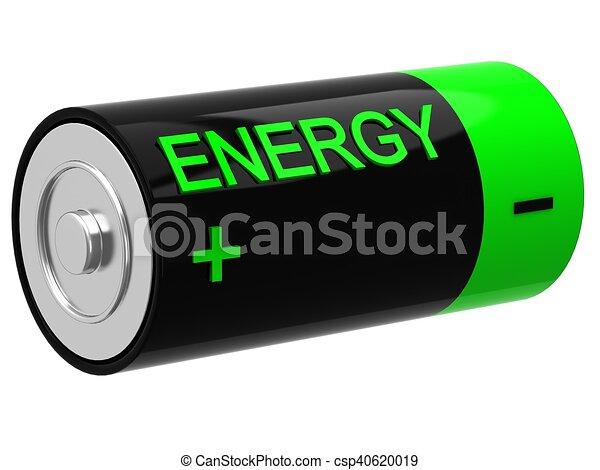 3D illustration of battery - csp40620019