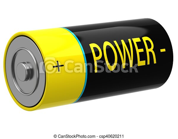 3D illustration of battery - csp40620211