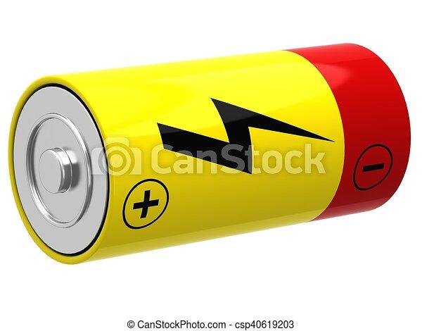 3D illustration of battery - csp40619203